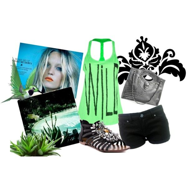 Poolside @ Night, created by lysscake on Polyvore: Perfect Closet, Dreams Clothing, Beautiful Dope