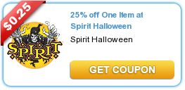 Rare 25% off Spirit Halloween coupon