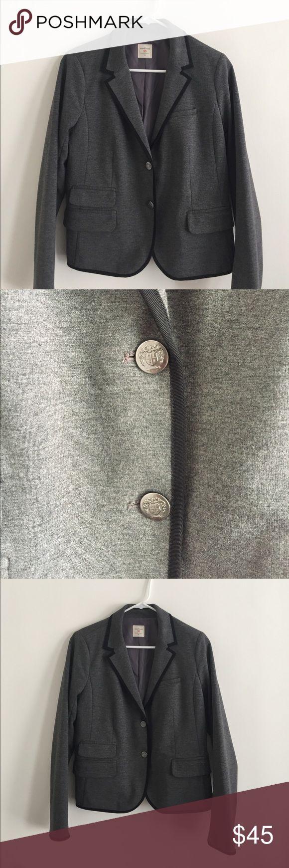 Academy Blazer by Gap Fully lined blazer in heather gray. Polyester spandex fabric. Worn once. GAP Jackets & Coats Blazers