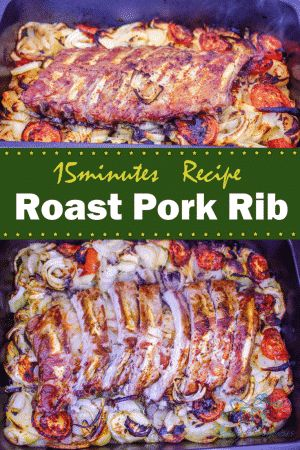 Roast pork rib recipe that only need 15 mins preparation time. Oven is doing all the hard work for you. I seriously cannot think of an easier way to make these juicy inside & crispy outside ribs!
