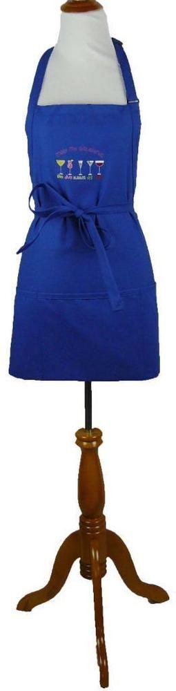 Meet My Girlfriends Apron Blue Adult Large Funny Margarita Martini Wine Monogram #DaystarApparel