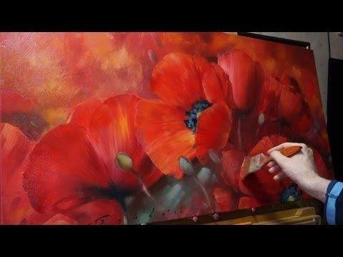 Янтарные подсолнухи. Amber sunflowers. Alla Prima. Process of creating oil painting from Oleg Buiko. - YouTube