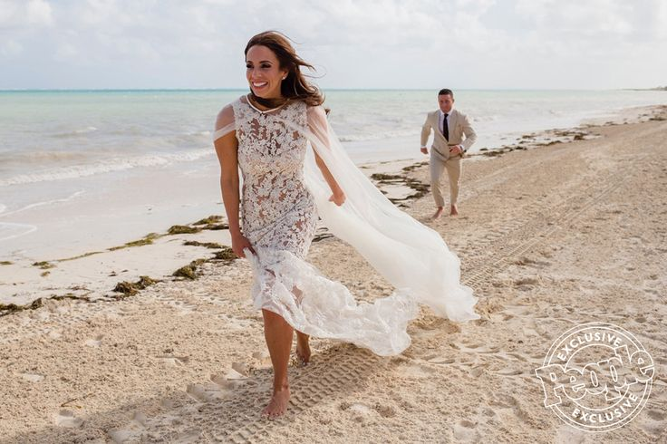 People: Survivor Alicia Rosa Gets Married at Moon Palace Cancun #beachwedding