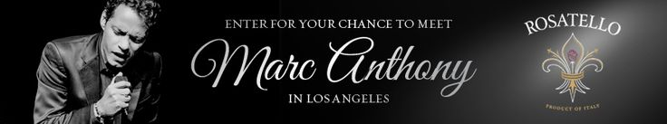 I just entered the Rosatello Marc Anthony Sweepstakes to win a trip for 2 to see Marc Anthony live in concert! Make sure you enter too! AL, AZ, CA, CT, DC, DE, FL, GA, IL, IN, LA, MA, MD, MI, NV, NH, NJ, OK, PA, TN, TX, UT, VA, WV, WI only