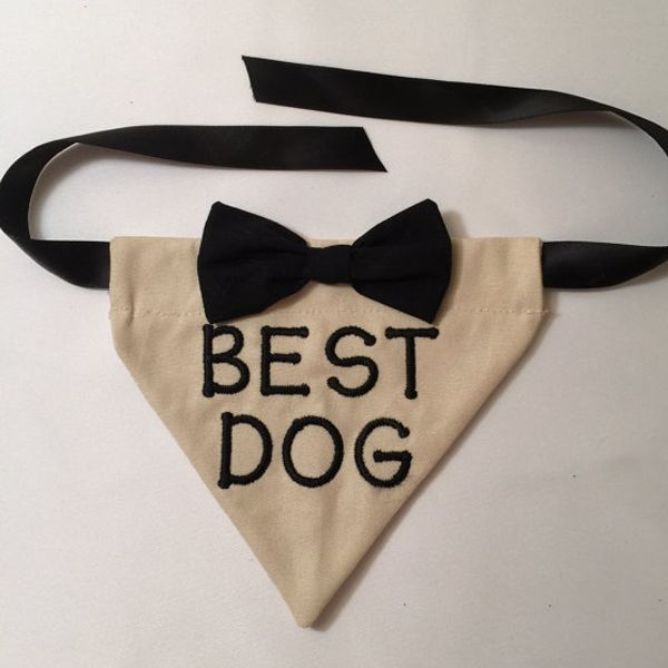 Don't forget your dog this wedding season! Style your pup with the Dog Wedding Bandana - Best Dog!