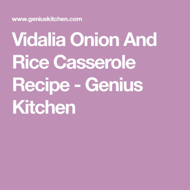 Vidalia Onion And Rice Casserole Recipe - Genius Kitchen