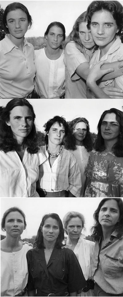 Nicholas Nixon // The Brown Sisters // 1975-2005 // I liked the concepts of commitment and time embedded in these photographs. // source: