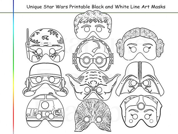 Coloring Pages Stars Party Printable Black and White Line