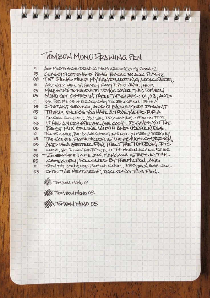 Tombow Mono Drawing Pen Review