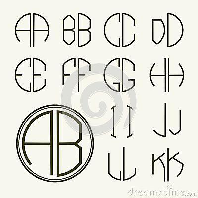 metta-le-lettere-del-modello-per-creare-i-monogrammi-50937376.jpg (400×400)