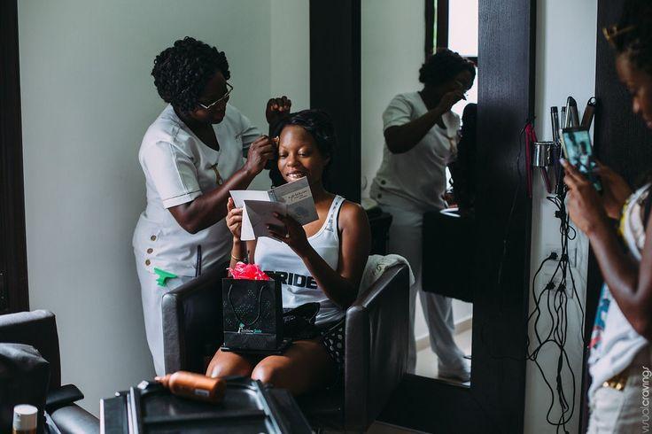 Brides moment before ceremony  http://bit.ly/1FBzCot @riuhoteles Jamaica Riu #lizmooreweddings