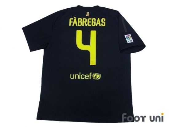 Photo2: Barcelona 2011-2012 Away Shirt #4 Fabregas LFP Patch/Badge nike unicef - Football Shirts,Soccer Jerseys,Vintage Classic Retro - Online Store From Footuni Japan