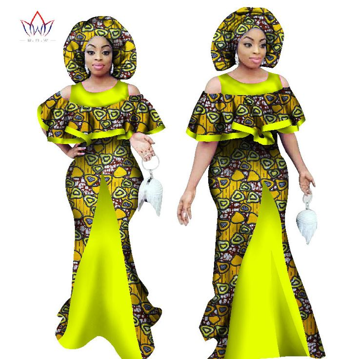 African Sleeveless Mermaid Dress