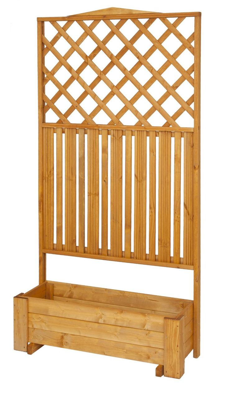 "Amazon.com: Gaspo Planter Box with Trellis Strobl - 41.34""x79.53"": Patio, Lawn & Garden"