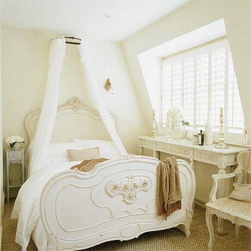 Romantic Bedroom Decorating Ideas | romantic white small classic attic bedroom ideas Small Attic Bedrooms ...