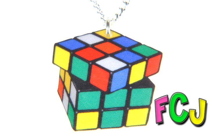 Rubix Cube Necklace