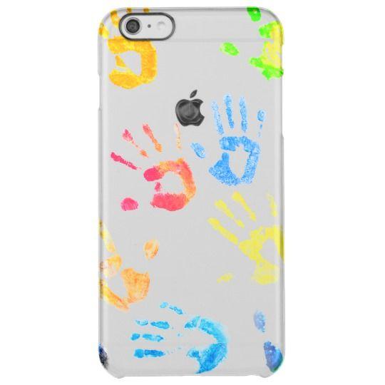 Rainbow Color Arms Prints Clear iPhone 6 Plus Case