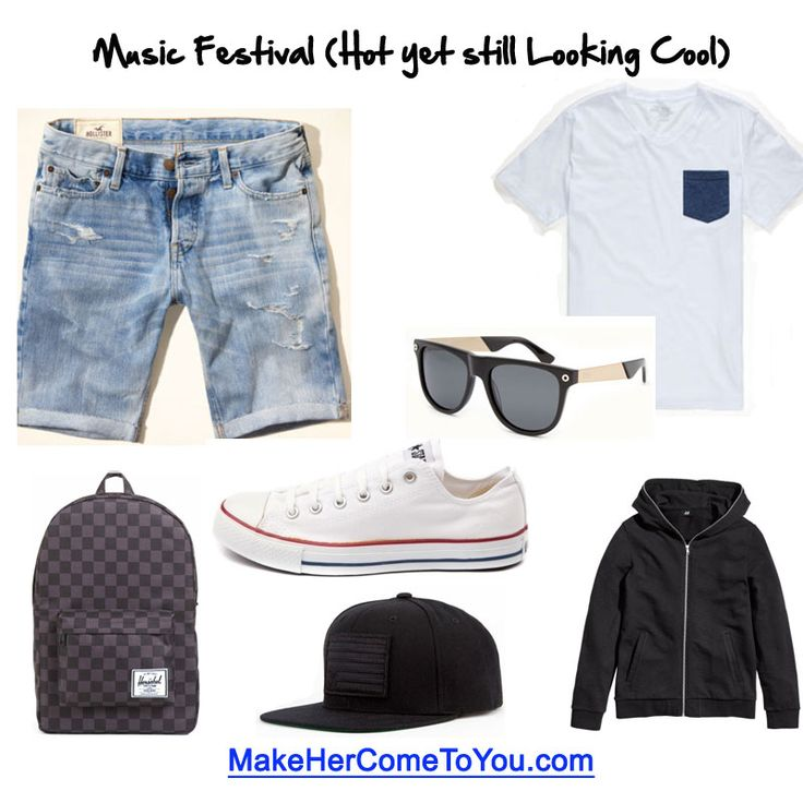 http://makehercometoyou.com  Music festival swag. Stay cool during the day and the hoodie for the chilly nights. Shirt contrast pocket tee @tillys Shoes @converse Shorts @hollister Backpack @herschelsupply Hat @civilclothing Glasses @9fivers Hoodie @hm #musicfestival #whattoweartomusicfestival