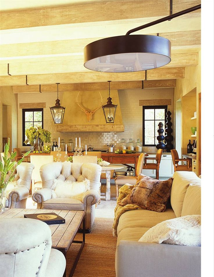 Wine country tuscan style open floor plan erin martin for Open country kitchen floor plans