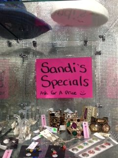 come in and ask for a price. Sandi's specials are now on.