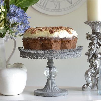 Filigree single cake stand