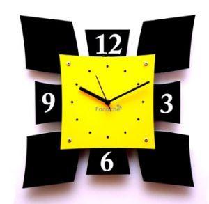 wall clock | Yellow Shield Style Wall Clock