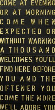 Come At Evening Vintage Sign transitional-novelty-signs