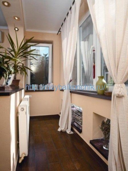 дизайн балкона в гостиной