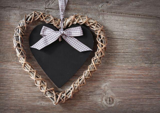 Pizarras con forma de corazón para San Valentín
