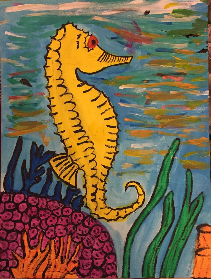 Nov 2015 - Sabine the Seahorse. A Christmas gift for Ann's grandma. Loved the colors and the water ripple effects.