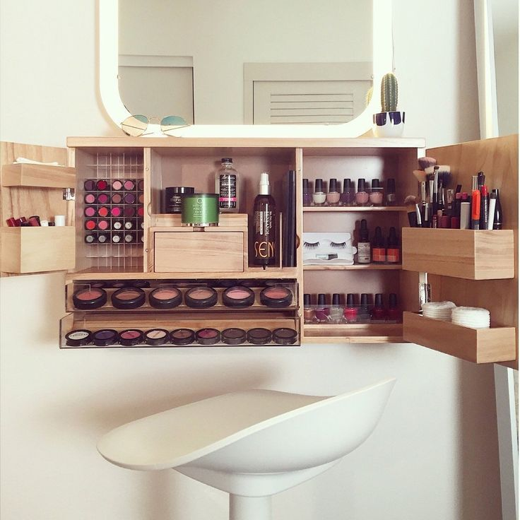 wall mounted makeup organizer a great space saver