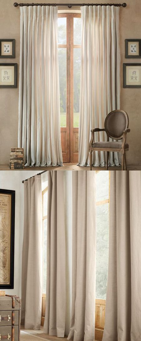 Curtain call: A round-up of the best ready-made drapes for varying budgets (think Ikea to Restoration Hardware).