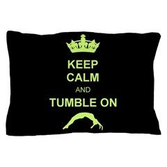 Keep Calm and Tumble on Pillow Case  #pillow #case #tumbling #gymnastics #gymnast #powertumbling #homedecor #giftsforteens #cheeleading