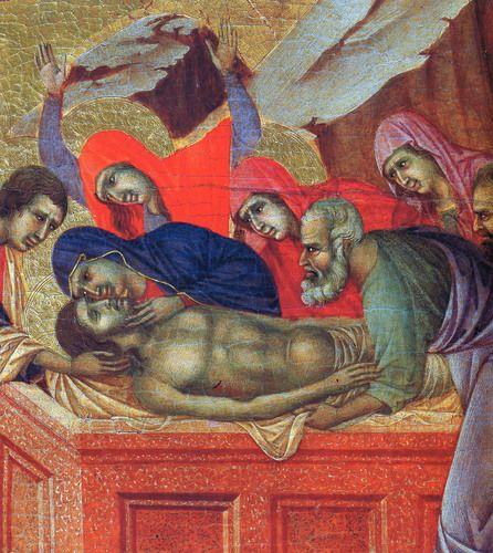 Lamentation of Christ (Fragment) by Duccio di Buoninsegna. Medium: wood, tempera .