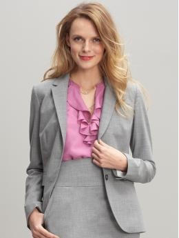Banana's blazers fit magnificently! OH and this baby is on sale! Light Pink Blazers, Shoes Style Bananarepublic Com, Fit Magnificent, Missionaries Clothing, Grey Blazers, Bananas Blazers, Sisters Missionaries, Bananas Republic, Blazers Fit