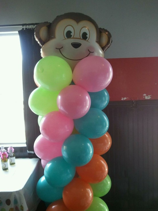 Jungle baby shower 6 awesome balloon ideas pinterest monkey babies and jungle baby showers - Monkey balloons for baby shower ...