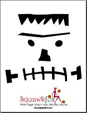 8 Pumpkin Stencils: Scary Printable Pumpkin Faces (and Marilyn Monroe) | Squawkfox