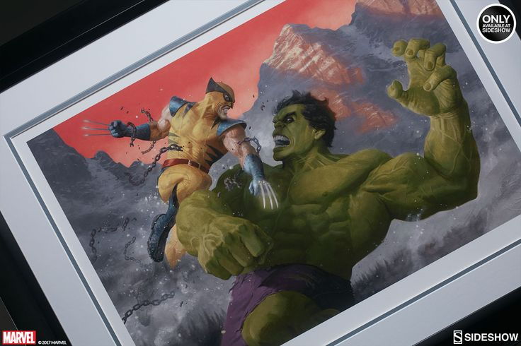 Marvel Hulk and Wolverine First Appearance Variant Art Print by Sideshow Collectibles