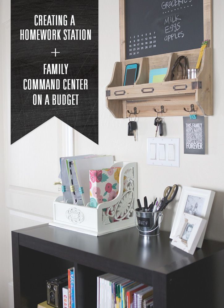 air jordans 2015 release Budget Friendly Family Command Center   Homework station   backtoschool  organization