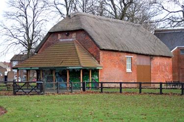 The Barn at Miton Park is the only thatched building in Portsmouth. The park was previously part of Milton Farm.