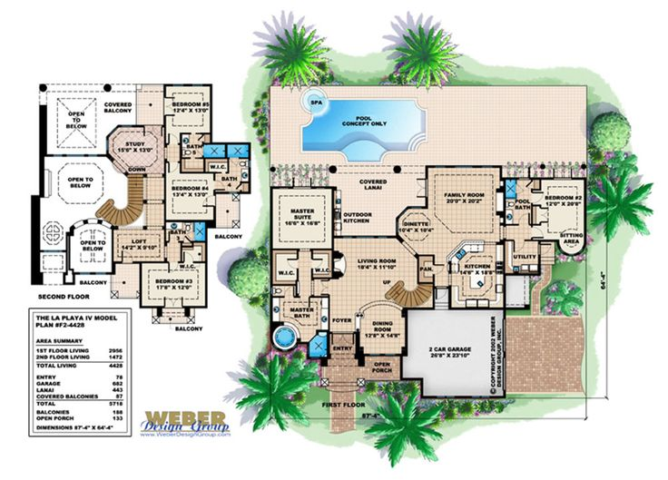 62 best narrow lot house plans images on pinterest for House plans for golf course lots