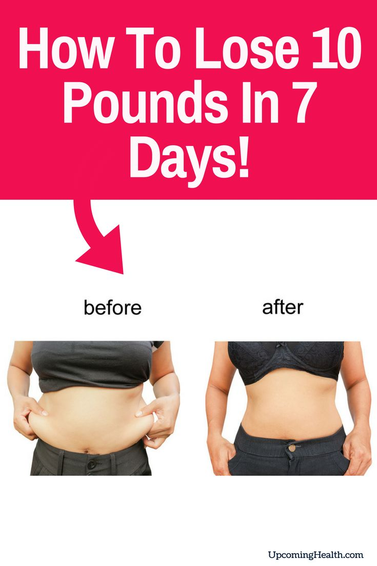 6 Ways To Lose 10 Pounds In A Week (Diet Included)