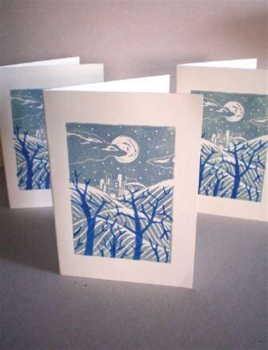 Print Your Own Seasonal Greetings Cards Using Linocut Techniques