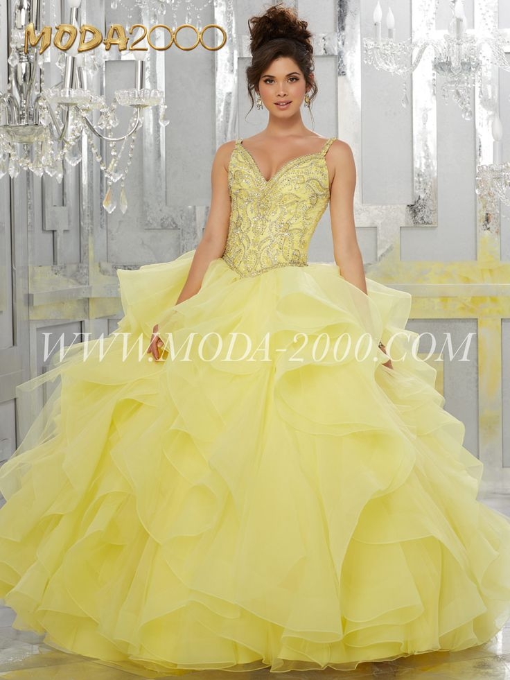 Yellow ruffles, beauty and the beast   Elegant and beautiful quinceañera dresses. Find the dress of your dreams at MODA 2000.  www.moda-2000.com  Instagram: @moda_2000