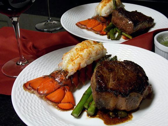 In my mind, surf and turf — that classic pairing of steak and lobster — is reserved for a restaurant. (A swanky one, with an old-school cool factor.) It's definitely not the kind of thing I'd whip up on a Thursday night for the kiddos before soccer and basketball practice. But Valentine's Day or another special occasion with my better half? Hmmmm… bring on the cattle and crustaceans!