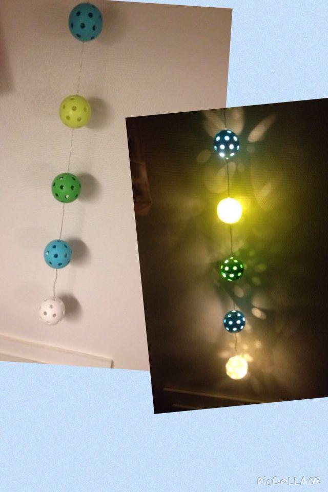 Lyskæde fra floorball holdet til min lille nevø