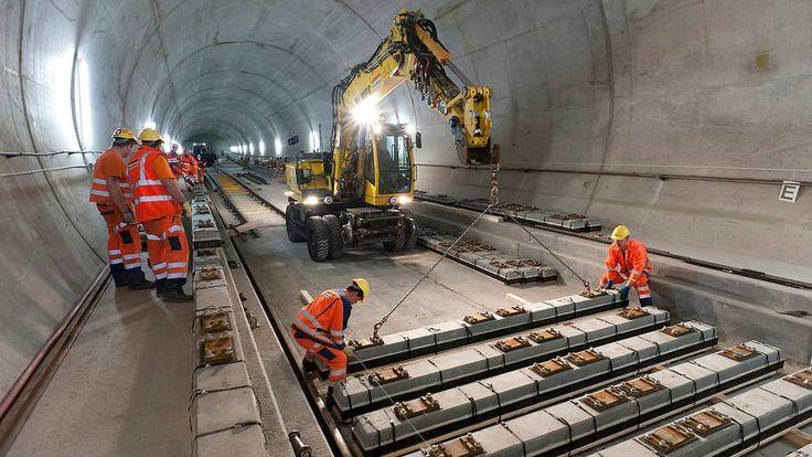 Gotthard Base Tunnel er verdens lengste jernbanetunnel med sine 57 kilometer. Foto: Alptransit Gotthard Ltd