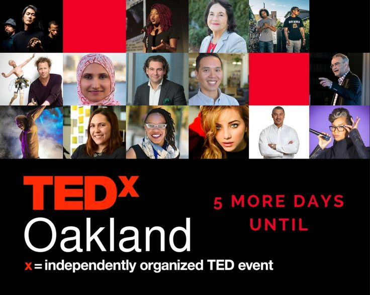 In 4 DAYS we can live #TEDxOakland for #dreamers #doers and #catalysts! Grab your seat for the ride... http://tedxoakland.org/tickets?utm_content=buffer191b8&utm_medium=social&utm_source=pinterest.com&utm_campaign=buffer #bhmediaco
