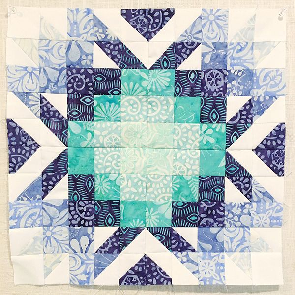 """Aurifil 2016 April Designer of the Month Kate Spain: I love this block, and it would be simple to reproduce, though a bit time consuming in 1"""" blocks. Why not a larger version?? Love the use of value."""