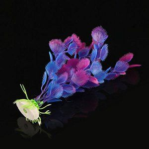 Plantes d'eau artificiels Faux plantes ornements Vente Aquarium Decor New Hot Fish TankViolet